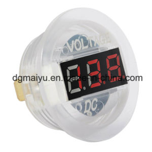 DC 12V LED Digital Display Voltmeter Waterproof for Boat Marine Vehicle Motorcycle Truck ATV UTV Car Camper Caravan pictures & photos