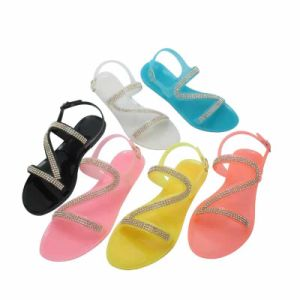 New Arrival Fashionable Starfish Beaded Sandals Jelly Sandals pictures & photos