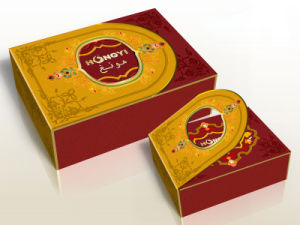 Red+Gloden Embossed+Glossy Lamination Perfume Box for Gift, Food Packaging (HYP017) pictures & photos