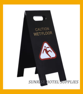 Acrylic Folding Cleaning Hotel Wet Floor Warning Sign pictures & photos