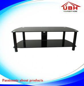 Economic Tempered Glass TV Stand/Double Layer
