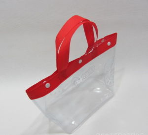 OEM Eco-Friendly Transparent PVC Tote Shopping Bag Handbags pictures & photos