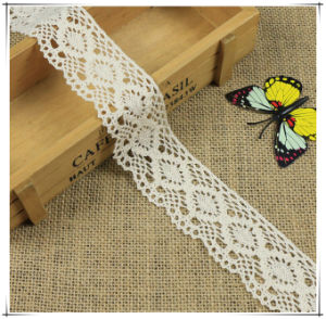 4.3cm Width off White Cotton Edging Lace Trimming