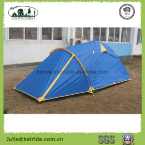 2 Persons 2 Layers 3 Poles Camping Tent with Extension pictures & photos