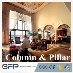 Natural Carved White Stone Columns and Stone Balustrade pictures & photos