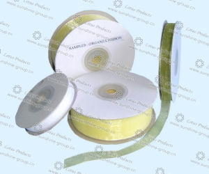 High Quality of Polyester Organza Ribbon pictures & photos