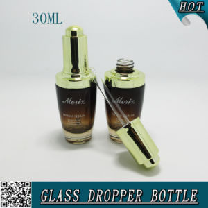 1oz Gradient Amber Glass 30ml Cosmetic Serum Dropper Bottle pictures & photos