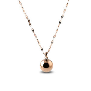 Jewelry Factory Women Fashion Stainless Steel Ball Pendant Necklace pictures & photos