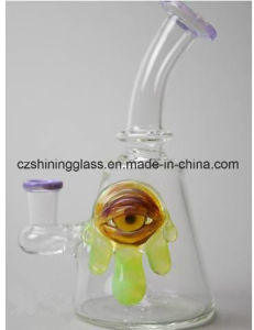 Shining Eyes Decoration Glass Smoking Pipe Oil Rigs with Factory Price pictures & photos