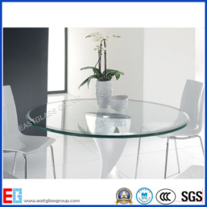 6mm- 12mm Diameter 560mm 916mm Round/Circle Coffee Furniture Tempered/Toughened Tabletop Glass pictures & photos