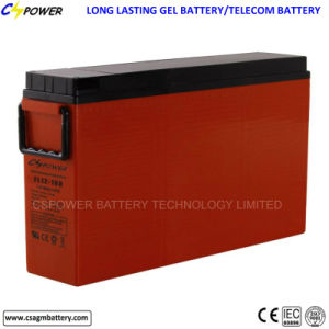FL12-180ah Deep Cycle Front Terminal Gel Battery for Solar pictures & photos