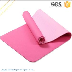 Latest Technology -Double Layers Non Toxic Custom TPE Yoga Mat with Friction pictures & photos