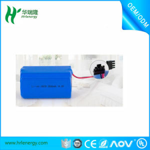 High-Energy Density, Longer Storage Life 4s 14.8V 18650 Li-ion Battery Pack 2600mAh pictures & photos