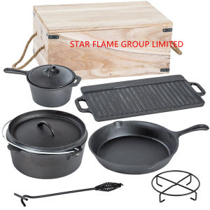 Dutch Oven Set with Wooden Box