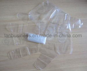 Clear Wipe Gloves PE Disposable Gloves pictures & photos