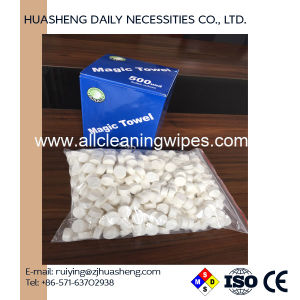 Candy Bag Wrapped Compressed Cellulose Towel pictures & photos