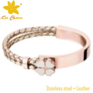 Beautiful Stainless Steel and Leather Bracelets pictures & photos