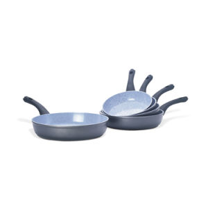 Marble Coated Aluminum Frying Pans with Backlite Handles