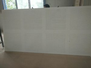 Acoustic Perforated Gypsum Ceiling Tile for Meeting Room KTV 595*595*8mm pictures & photos