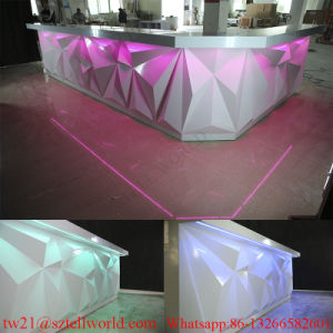L Shape Drinking Win Bar Counter Furniture Luxury Design Commercial Restaurant Wine Counter pictures & photos
