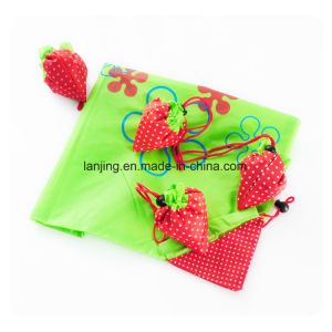 Large Capacity Strawberry Cute Folding Portable Fashion Waterproof Shopping Bag pictures & photos