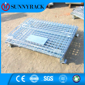 ISO9001 Galvanized Foldable Warehouse Storage Wire Container pictures & photos