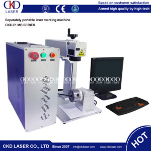 Portable Optical Fiber Laser Marking Engraving Machine pictures & photos