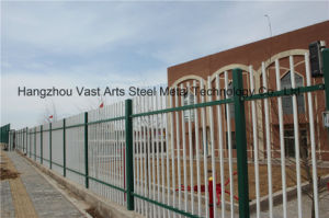 Haohan White Simple Industrial Residential Security Galvanized Steel Fence 36 pictures & photos
