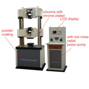 Wa Digital Display Hydraulic Universal Testing Machine pictures & photos