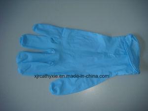 Disposable Nitrile Glove Powder Free&Powder Blue/White /Sky Blue/Green pictures & photos