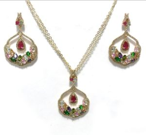 Vintage Style Fashion Jewelry Set for Woman 3A CZ 925 Sterling Silver Jewelry Set (S3399CR) pictures & photos
