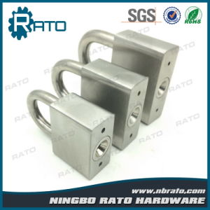 Heavy Duty Square Stainless Steel Padlock for Warehouse