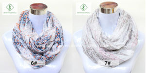 2017 Hot Sale Europe Geometric Printed Fashion Lady Infinity Scarf pictures & photos