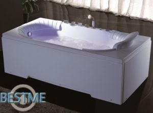 Bathroom Freestanding Whirlpool Massage Acrylic Jacuzzi Bath Tub Sanitary Ware pictures & photos