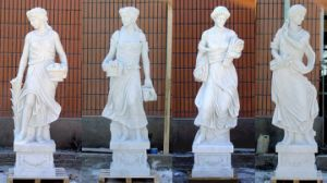 White Marble Sculpture for Garden Decoration/Carving Animal Sculpture pictures & photos