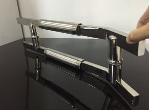 Stainless Steel Square Pipe Glass Door Handle pictures & photos