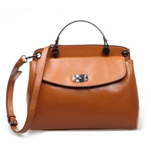 Women Genuine Leather Messenger Bag Crossbody Shoulder Fashion Handbag pictures & photos