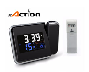 Wwvb Desktop Radio Controlled Projector Clock with Indoor&Outdoor Temperature pictures & photos