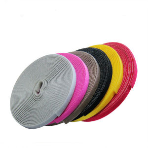 Dye Color 100% Nylon Woven Hook and Loop pictures & photos