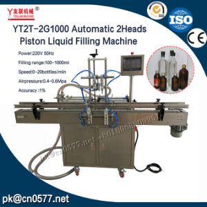 Yt2t-2g1000 Automatic 2heads Piston Liquid Filling Machine pictures & photos