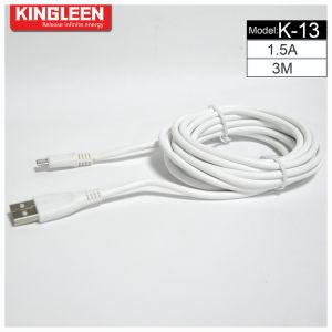 Kingleen Model K-13 Data Cable 3m 1.5A for Samsung/HTC pictures & photos