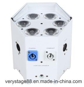 DJ Battery PAR Can 6X18W RGBWA UV 6 in 1 DMX Wireless IR LED Uplight pictures & photos