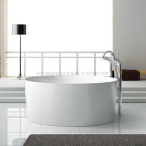 Round Stone Resin Bathtub, Corian, Modified Acrylic, Polymable Stone (K1811) pictures & photos