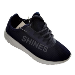 Navy Kids Sport Shoes with Mesh Upper for Boys