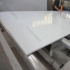 20mm Sparkle White Artificial Quartz Stone for Floor pictures & photos