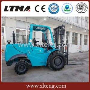 3ton Rough Terrain Diesel Forklift Truck with 1220mm Fork Length pictures & photos