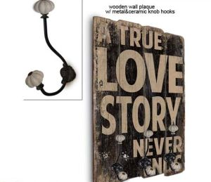 40*60cm Wall Plaques & Wooden Plaque with Hook & Hooks pictures & photos