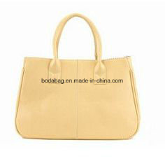 Concise Candy Color and PU Leather Design Tote Bag (BDMC022) pictures & photos