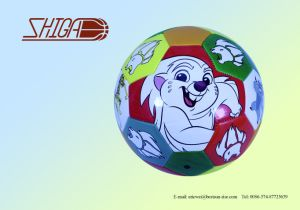 Cartoon Machine Stitched PVC Soccer Ball pictures & photos