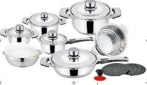 16PCS Stainless Steel Wide Edge Cookware Set pictures & photos